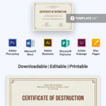 Free Certificate Of Destruction | Certificate Templates throughout Free Certificate Of Destruction Template