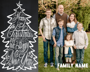 Free Chalkboard Christmas Card Download Ideas! « Goodncrazy with Free Christmas Card Templates For Photoshop