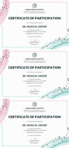 Free Choir Certificate Of Participation | Note | Certificate throughout Choir Certificate Template