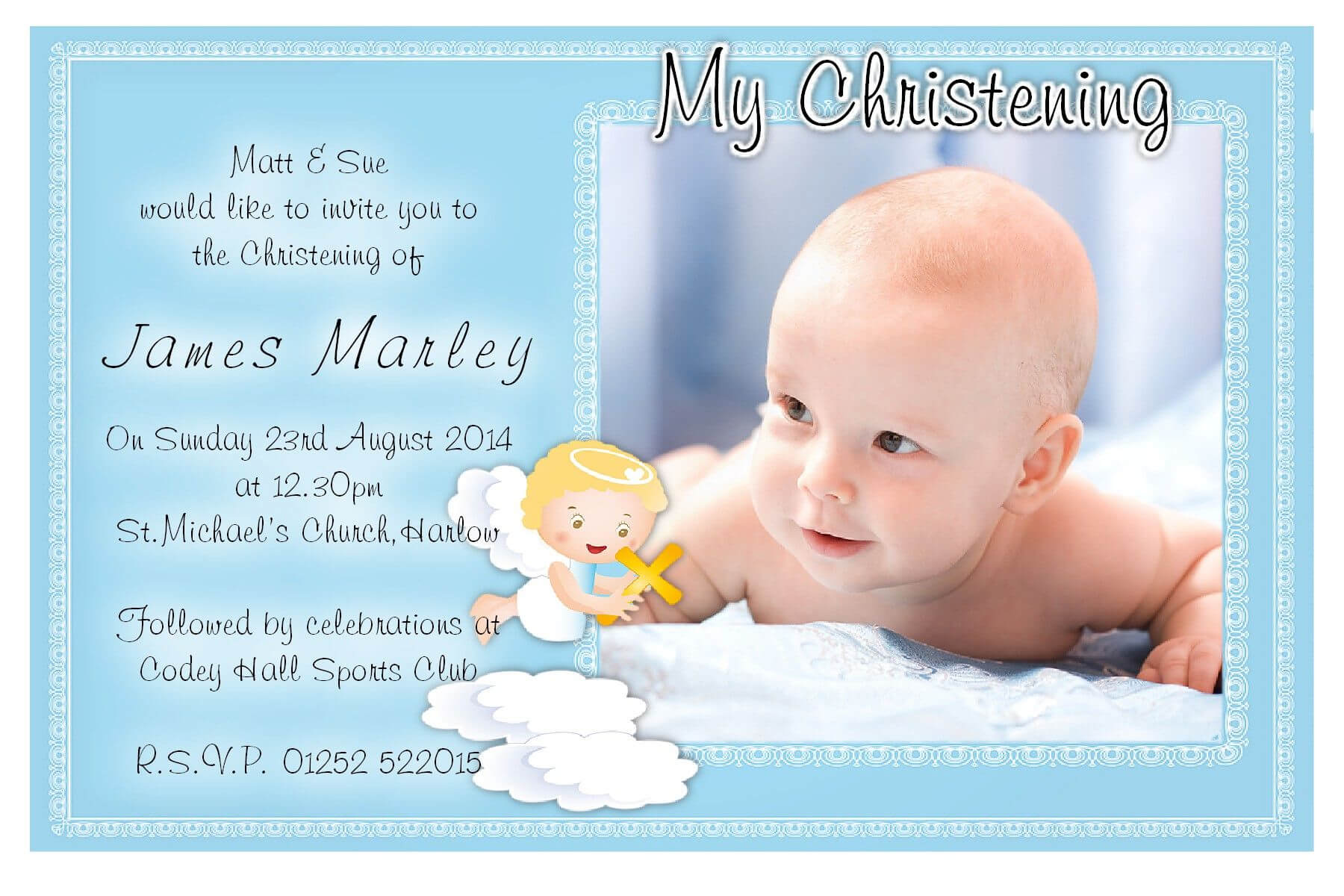 Free Christening Invitation Template Download | Baptism Intended For Baptism Invitation Card Template