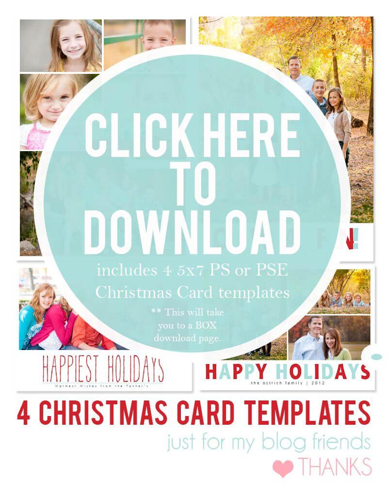 Free Christmas Card Templates For 2012 | Christmas Card Throughout Free Christmas Card Templates For Photographers