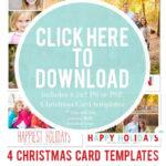 Free Christmas Card Templates For 2012   Christmas Card Within Free Photoshop Christmas Card Templates For Photographers