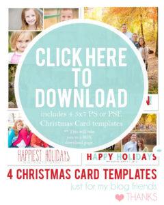 Free Christmas Card Templates For 2012 | Christmas Card within Free Photoshop Christmas Card Templates For Photographers