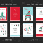 Free Christmas Card Templates For Photoshop & Illustrator in Free Christmas Card Templates For Photoshop