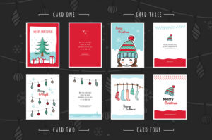 Free Christmas Card Templates For Photoshop & Illustrator intended for Christmas Photo Card Templates Photoshop