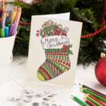 Free Christmas Coloring Card With Regard To Diy Christmas Card Templates