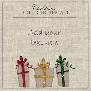 Free Christmas Gift Certificate Template | Customize Online For Christmas Gift Certificate Template Free Download