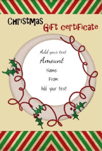 Free Christmas Gift Certificate Template | Customize Online with regard to Homemade Christmas Gift Certificates Templates