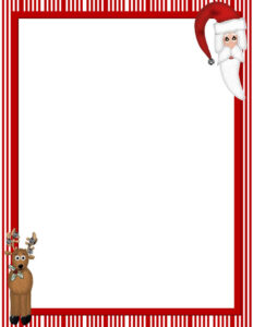 Free Christmas Paper Computer | Christmas Free-Stationery pertaining to Christmas Border Word Template