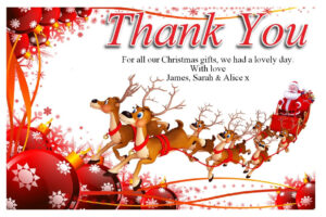 Free Christmas Thank You Cards Templates — Anouk Invitations with regard to Christmas Thank You Card Templates Free