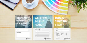 Free Church Connection Cards – Beautiful Psd Templates inside Push Card Template