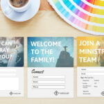 Free Church Connection Cards – Beautiful Psd Templates With Church Visitor Card Template