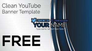 Free Clean Youtube Banner Template (Photoshop And Gimp) Inside Gimp Youtube Banner Template