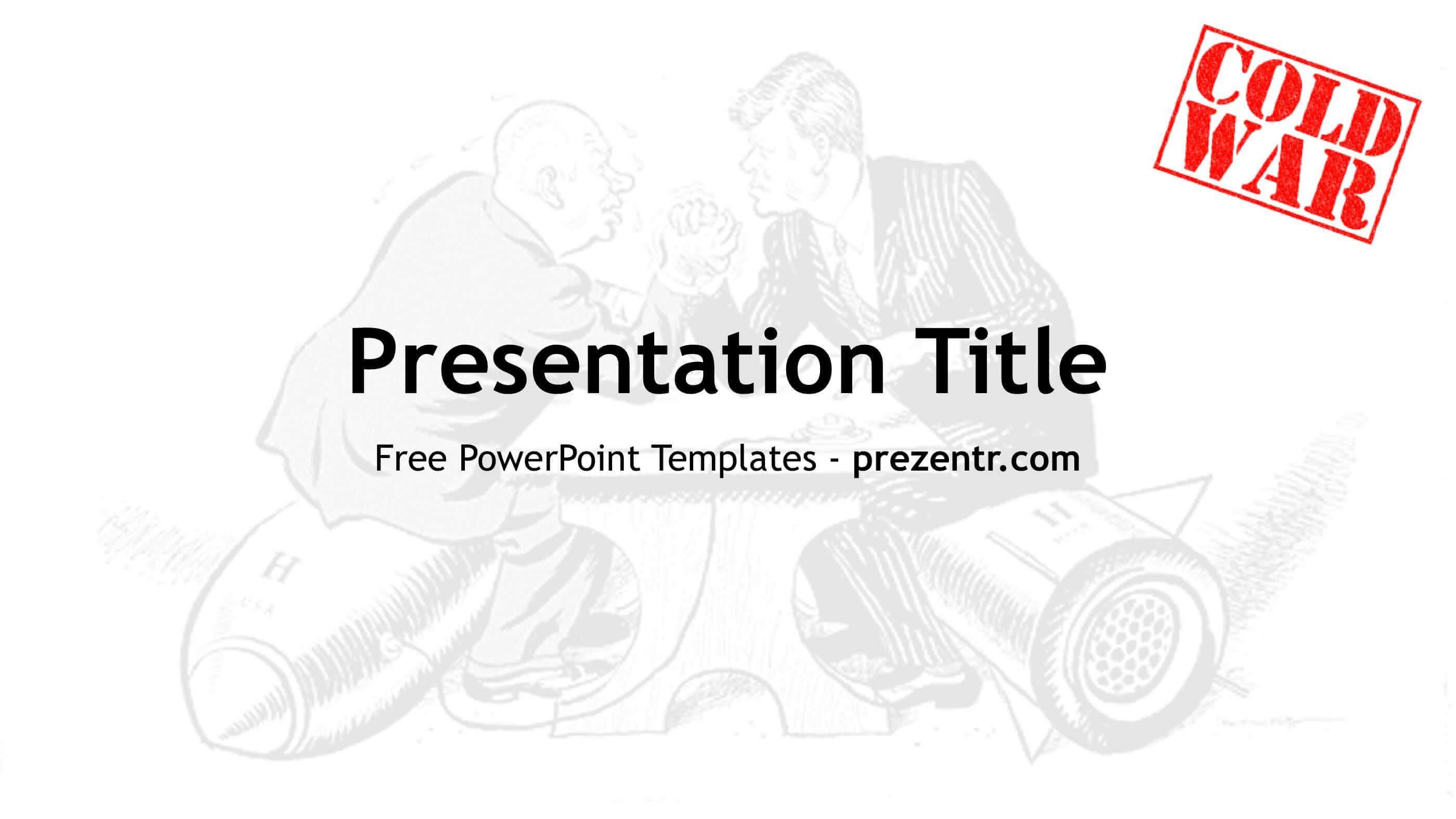 Free Cold War Powerpoint Template - Prezentr Ppt Templates With Regard To Powerpoint Templates War