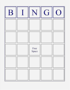 Free Collection Blank Bingo Card Template Microsoft Word with Blank Bingo Card Template Microsoft Word