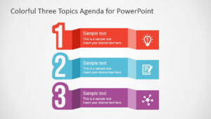 Free Colorful Three Topics Agenda For Powerpoint throughout Powerpoint Sample Templates Free Download