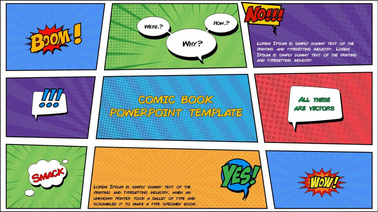 Free Comic Book Powerpoint Template For Download | Slidebazaar Inside Comic Powerpoint Template