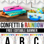Free Confetti Banner For The Classroom - Confetti Classroom with Classroom Banner Template