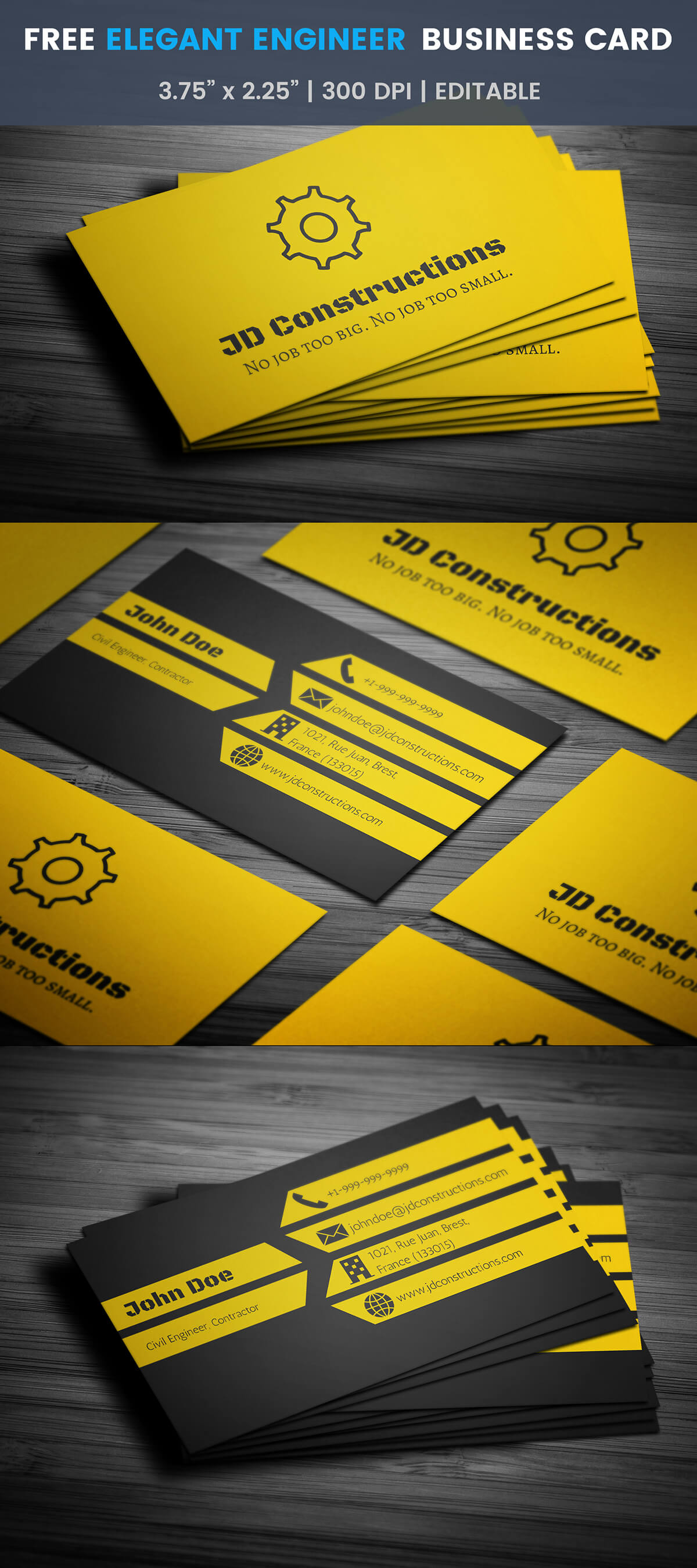 Free Construction Business Card Template On Student Show With Construction Business Card Templates Download Free
