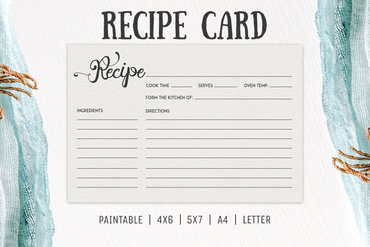 Free Cooking Recipe Card Template Rc2 – Creativetacos With Regard To 4X6 Photo Card Template Free