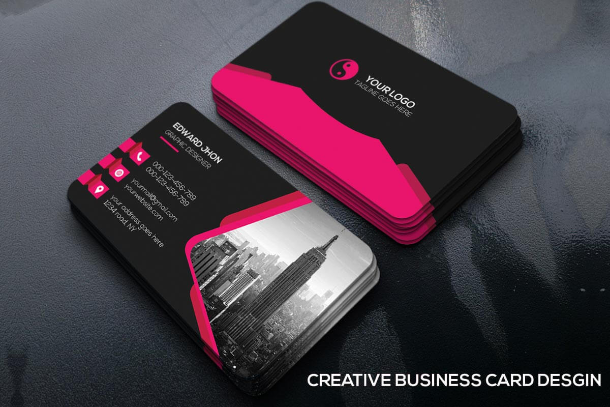 Free Creative Business Card Template - Creativetacos Inside Unique Business Card Templates Free