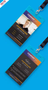 Free Creative Identity Card Design Template Psd within College Id Card Template Psd