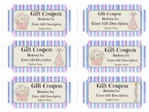 Free Custom Birthday Coupons – Customize Online & Print At Home regarding Coupon Book Template Word