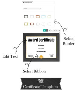 Free Custom Certificate Templates | Instant Download in Free Printable Funny Certificate Templates