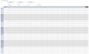 Free Daily Schedule Templates For Excel – Smartsheet in Blank Cleaning Schedule Template