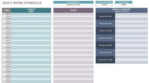 Free Daily Schedule Templates For Excel – Smartsheet intended for Employee Daily Report Template