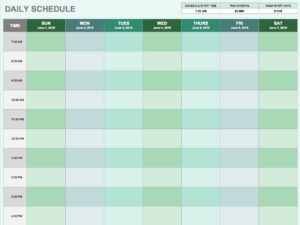 Free Daily Schedule Templates For Excel – Smartsheet regarding Daily Activity Report Template