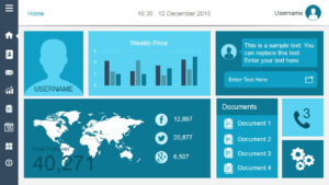 Free Dashboard Templates – throughout Powerpoint Dashboard Template Free