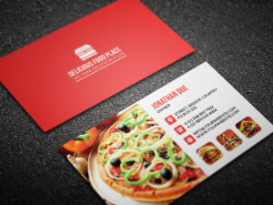 Free Delicious Food Business Card On Behance throughout Food Business Cards Templates Free