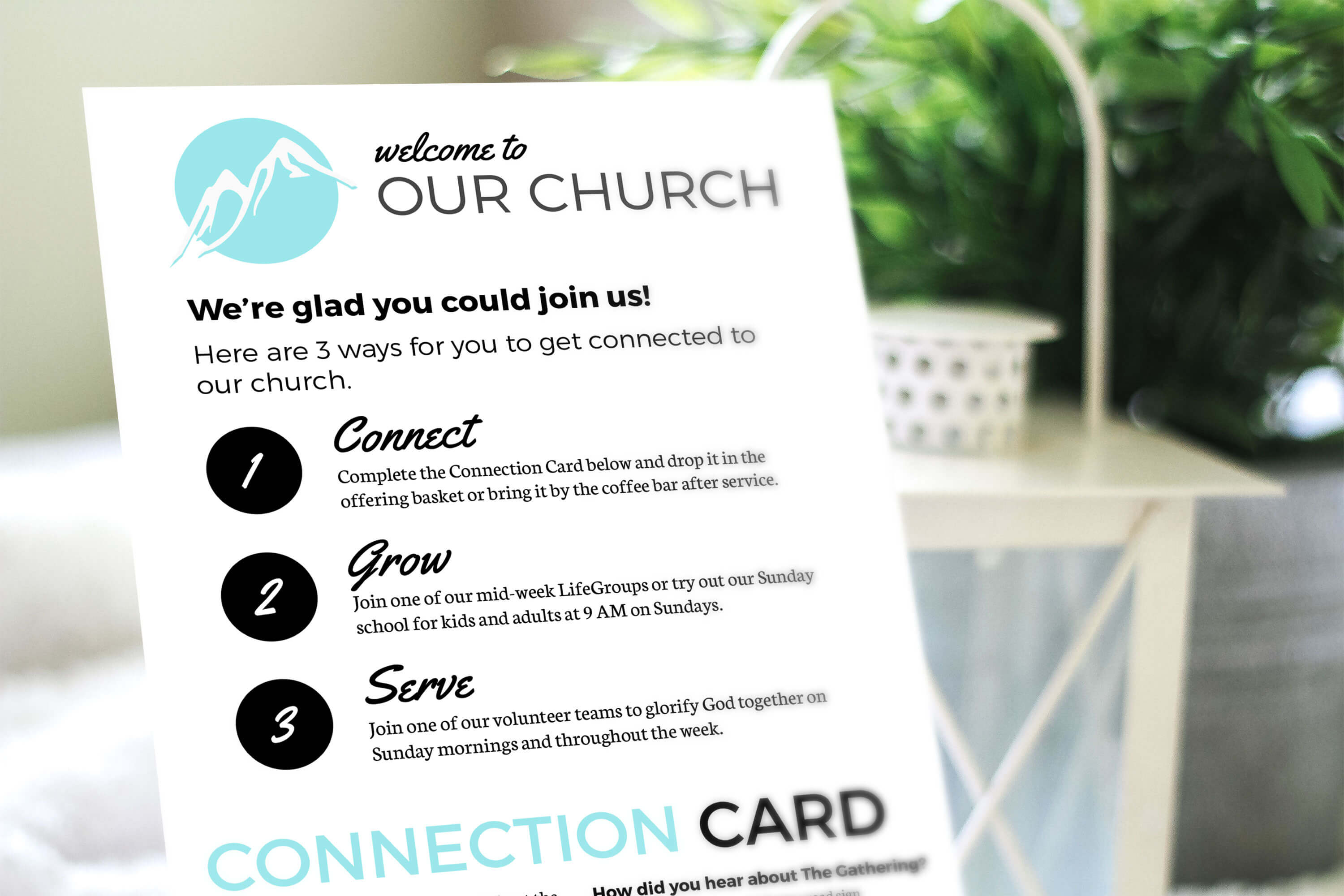 Free Design Template: Connection Card – Churchly Intended For Decision Card Template