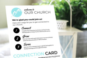 Free Design Template: Connection Card – Churchly throughout Church Visitor Card Template Word