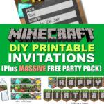 Free Diy Printable Minecraft Birthday Invitation – Clean With Minecraft Birthday Card Template