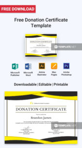 Free Donation Certificate | Certificate Templates & Designs pertaining to Donation Certificate Template
