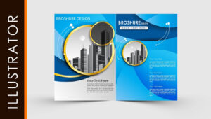 Free Download Adobe Illustrator Template Brochure Two Fold with regard to Ai Brochure Templates Free Download