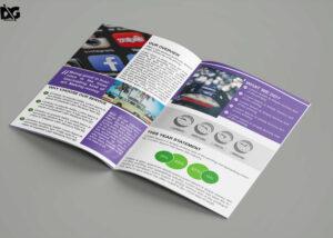 Free Download Bi-Fold Social Media Company Brochure Template pertaining to Social Media Brochure Template