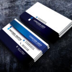 Free Download Blue Colour Business Cards Vol 91 Regarding Professional Business Card Templates Free Download