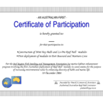 Free Download Certificate Of Participation Template - Lara for Certificate Of Participation Word Template