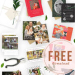 Free Download: Christmas Card Template Bundle For The Throughout Free Holiday Photo Card Templates