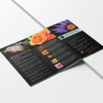 Free Download Psd Flower Shop Brochure Templates | Free Psd Pertaining To Pop Up Brochure Template