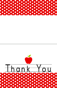 Free Download: Teacher Appreciation Week May 3-7 – Dimple Prints with Thank You Card For Teacher Template