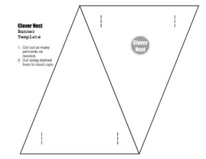 Free Downloadable Bunting Template. Yer Welcome :) | Free in Homemade Banner Template