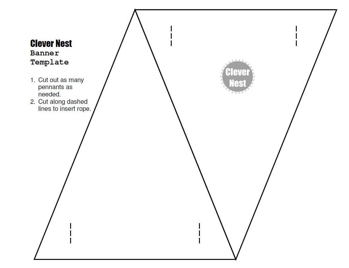 Free Downloadable Bunting Template. Yer Welcome :) | Free Pertaining To Triangle Pennant Banner Template