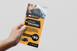 Free Driving School Poster & Rack Card Template – Psd, Ai pertaining to Free Rack Card Template Word