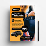 Free Driving School Poster & Rack Card Template – Psd, Ai With Advertising Card Template