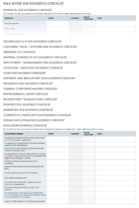 Free Due Diligence Templates And Checklists | Smartsheet inside Vendor Due Diligence Report Template