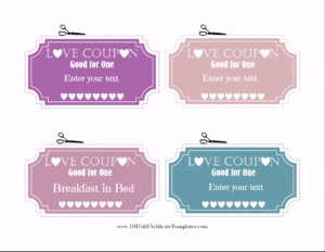 Free Editable Love Coupons For Him Or Her throughout Love Coupon Template For Word